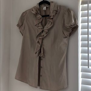 WHBM cream blouse